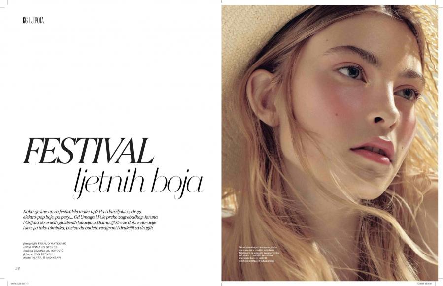 Prelijepi najnoviji beauty editorijal sa Midikennovom uzdanicom Klarom za magazin Gloria Glam